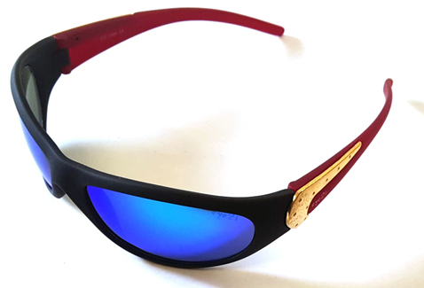 D158A Red Blue-Timmins Sports Sunglasses