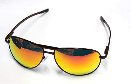 D2570 Brown Fire-Revo Aviators Golf Sunglasses