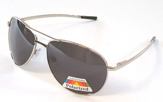 D70P Chrome-Polar Aviators Polarized Sunglasses