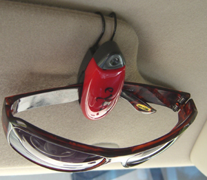 Car Clips that get attached to the sun visor of your car.